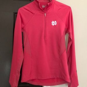 New Under Armour Notre Dame Pink jacket Small